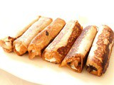 French toast rolls up (pain perdu roulé) ricotta et chocolat