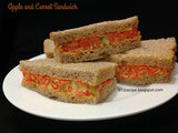 Apple and Carrot Sandwich