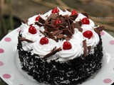 Mini Black Forest Cake on a Pan