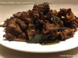 Mutton Chukka / Spicy Lamb Dry Fry