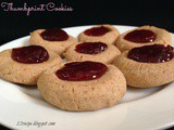 Thumbprint Cookies / Almond Wheat Flour Jam Cookies
