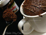 Two Minutes Microwave Nutella Mug Cake