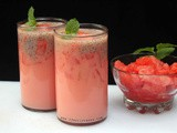 Watermelon Basil Seeds Drink