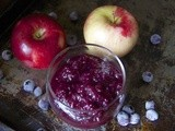 Cinnamon Blueberry Applesauce