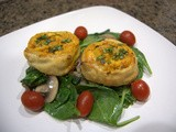 Day 287 - Butternut Chicken Pinwheels Over Sauteed Spinach in a White Wine Mushroom Sauce