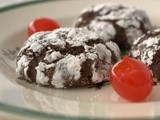 Day 6 of the 12 Days of Cookies - Chocolate Cherry Crinkles