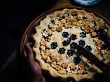 Blueberry and passion fruit pie