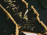 Concord grape tart with almond crust