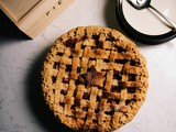 Dry mango spiced apple cranberry pie