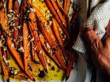 Exciting news and roasted carrots with garlic and lime