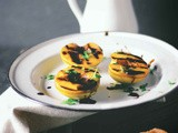 Grilled mango necatarines chaat