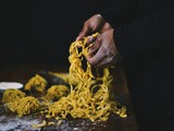 Homemade egg pasta dough