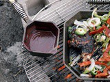 Indian inspired hot and sweet cherry barbecue sauce