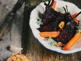 Oven roasted beets and carrots with coriander