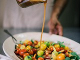 Summer tomato salad with sweet tamarind dressing