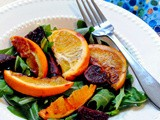 And the sun came out... (Arugula Salad with Oranges and Beets)