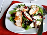 Apple, Chicken, and Cranberry Salad with a Creamy Homemade Dressing
