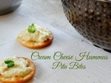 Cream Cheese Hummus Pita Bites