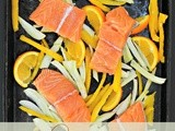 Dinner in a Flash: Salmon with Fennel, Bell Pepper, and Orange