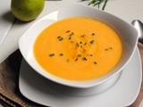 Have yourself a very peary Christmas! (Butternut Squash and Pear Soup)