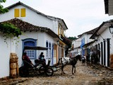 Paint, Cobblestone, and Horse-drawn Carriages... (Paraty, Brazil)