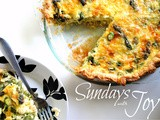 Sundays with Joy -- Leek & Asparagus Quiche