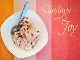 Sundays with Joy -- Strawberry Cookie Dough Ice Cream