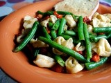 Tortellini with Green Beans and Tomatoes