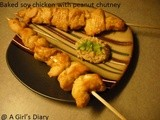 Baked Soy Chicken With Peanut Chutney