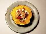 Ricotta, Sun-dried Tomato And Soy Crumble Stuffed Acorn Squash