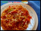 Capsicum pasta in red sauce