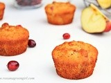 Cranberry Apple Muffins (vegan)