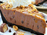 No bake nutella snickers pie recipe