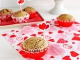 Pomegranate chia seed muffins