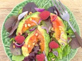 Avocot Salad with Raspberries #FarmersMarketWeek