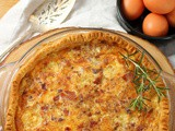 Bacon and Leek Quiche #BloggerCLUE