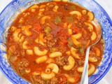 Beef and Tomato Macaroni Soup