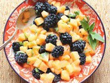 Blackberry Cantaloupe Salad #FarmersMarketWeek