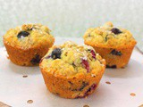 Blueberry Oatmeal Muffins #MuffinMonday