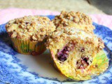 Blueberry Streusel Muffins #MuffinMonday