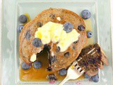 Buttermilk Blueberry Buckwheat Pancakes #BlueberryWeek