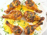 Carolina Gold Barbecue Buttermilk Brined Chicken Drumsticks #CrazyIngredientChallenge