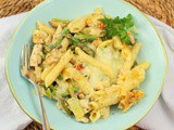 Chicken and Asparagus Pasta Bake #BakingBloggers