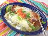 Chicken Enchiladas Divorciadas #FoodieExtravaganza #Sponsored