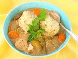 Chicken Stew with Parsley Dumplings #SoupSwappers