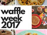 Cinnamon Horchata Waffles with Apple Topping for #WaffleWeek