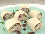 Cranberry Jalapeno Turkey Roll-Ups #CranberryWeek