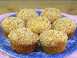 Crumb Topped Peach Muffins #MuffinMonday