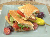 Cyprus Sandwich with Halloumi Cheese- a Mediterranean Favorite