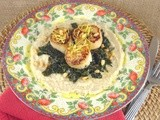 Diver's Scallops with Sauteed Kale and Butter Bean Puree